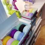 Pormenor de uma caixa de oferta de sabonetes