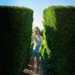 No jardim do Palácio de Seteais