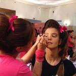 Pormenor da maquilhagem de Paula Nozelos