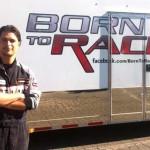 Nas filmagens de Born to Race