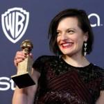 """Elisabeth Moss: Melhor Atriz em Minissérie ou Telefilme, por """"Top of the Lake""""."""