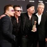 """U2: Melhor Canção Original, por """"Ordinary Love"""", da banda sonora de """"Mandela – A Longa Viagem para a Liberdade""""."""