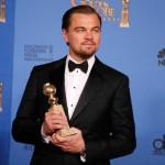 """Leonardo DiCaprio: Melhor Ator em Musical ou Comédia, por """"O Lobo de Wall Street""""."""