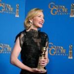 """Cate Blanchett: Melhor Atriz em Drama, por """"Blue Jasmine""""."""
