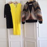 O casaco de Fernanda Pereira e os dois vestidos de Ricardo Preto.
