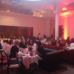 O jantar comemorativo All Red, no restaurante La Villa, em Paris.