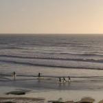 A minha praia Santa Rita ao fim do dia.