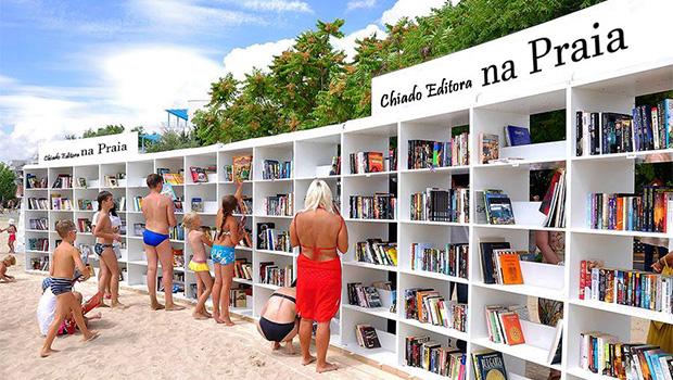 bibliotecas na praia
