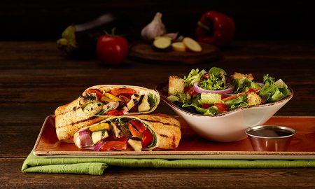 Menu vegetariano no Hard Rock Cafe