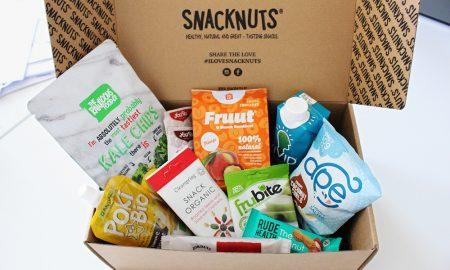Um caixa-surpresa de snacks saudáveis