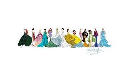 Do mundo encantado para a alta-costuraprincesas Disney