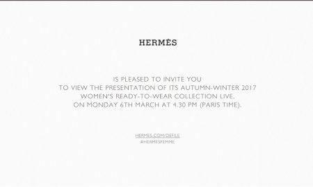desfile hermès outono/inverno 17 em Paris