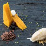 Restaurante Cozinha da Clara Torta de abóbora, pasta de queijo-fresco e gelado de noz ©Homem Cardoso