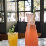 Cocktail 'Aos Molhos' e 'Sangria de Rosé'