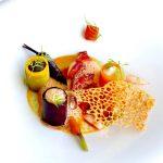Lavagante com cenouras e molho de citrinos