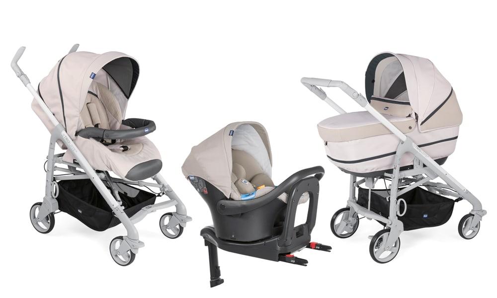 Trio Love Up i Size, o novo carrinho de bebe da Chicco