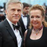 Caroline Scheufele e o ator Christoph Waltz