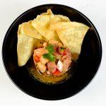 Ceviche de peixe e camarão, na nova carta do Sushicorner