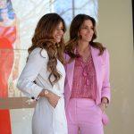 Cláudia Vieira e Cindy Crawford