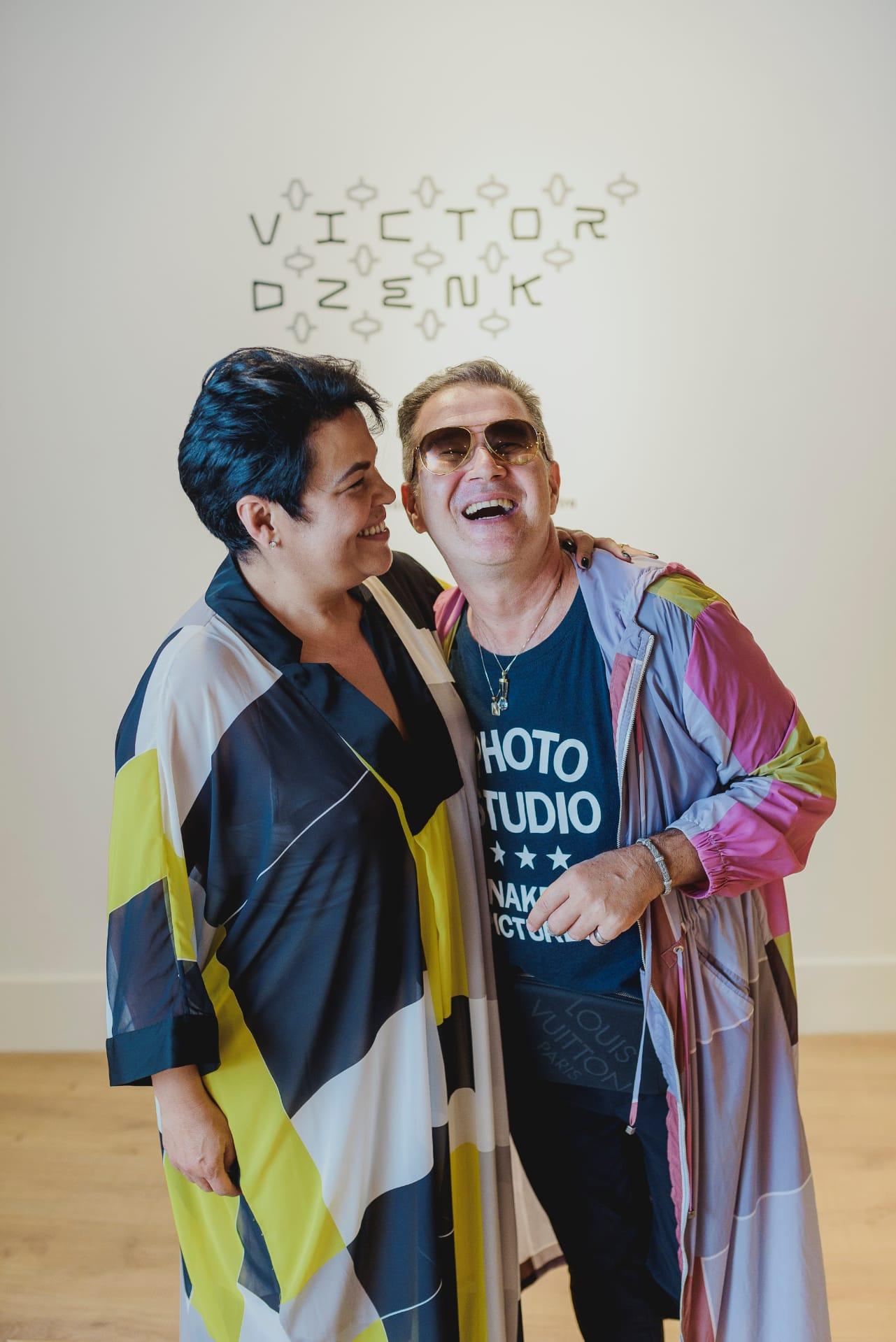 Andrea Guerra, proprietária da Primner, e Victor Dzenk