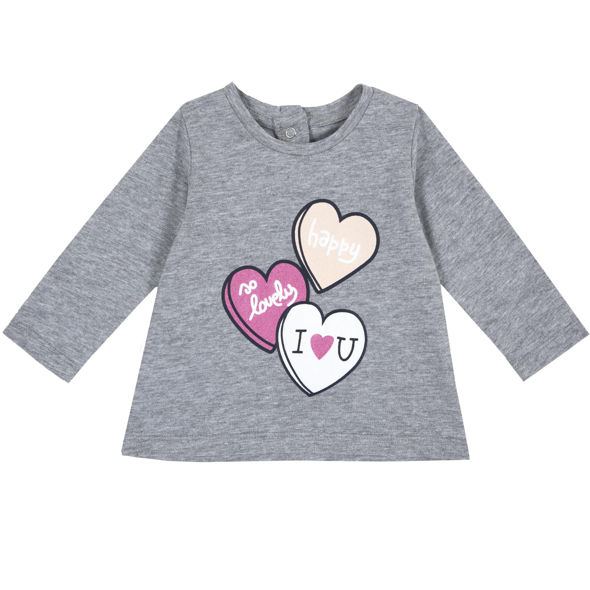 T-shirt Comprida Cinza – 9,99€