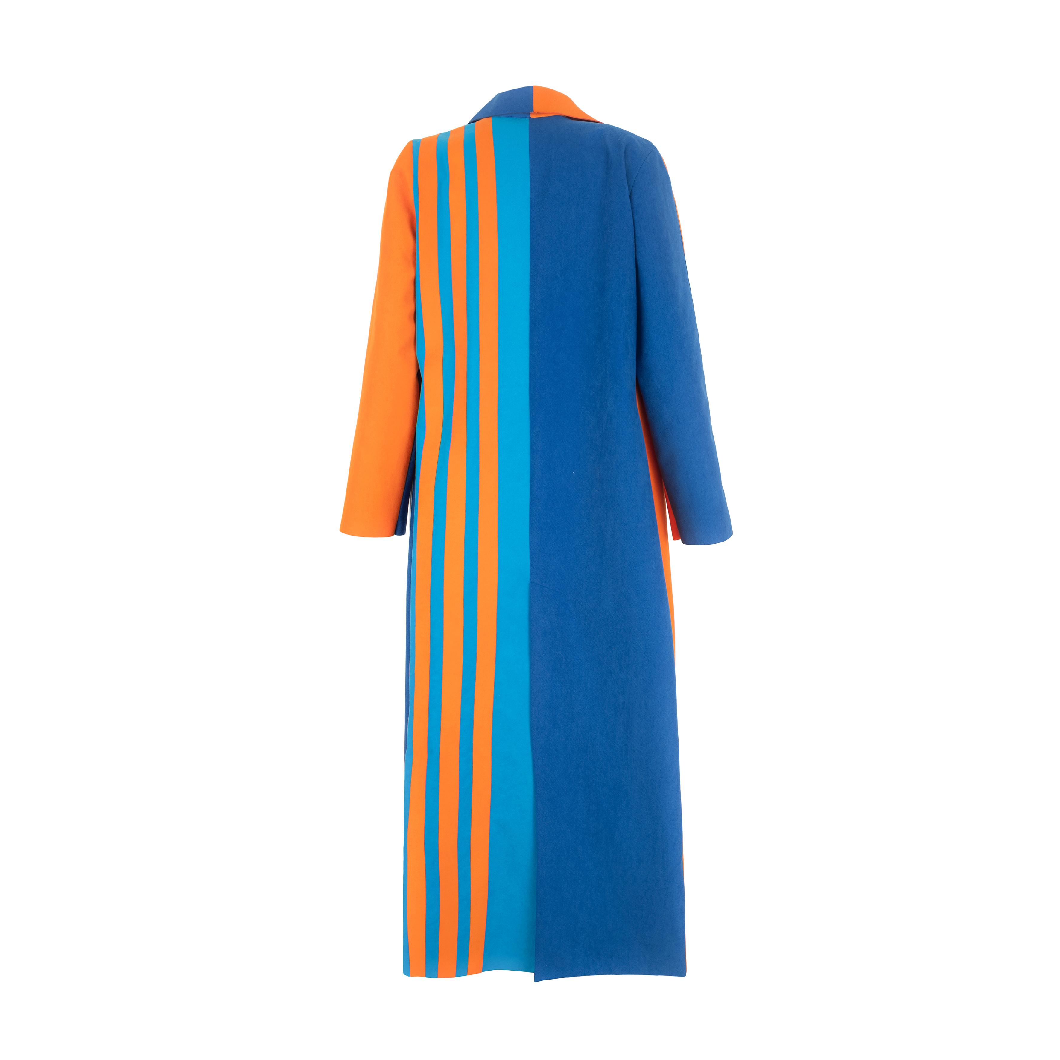 Colour block alcantara coat back