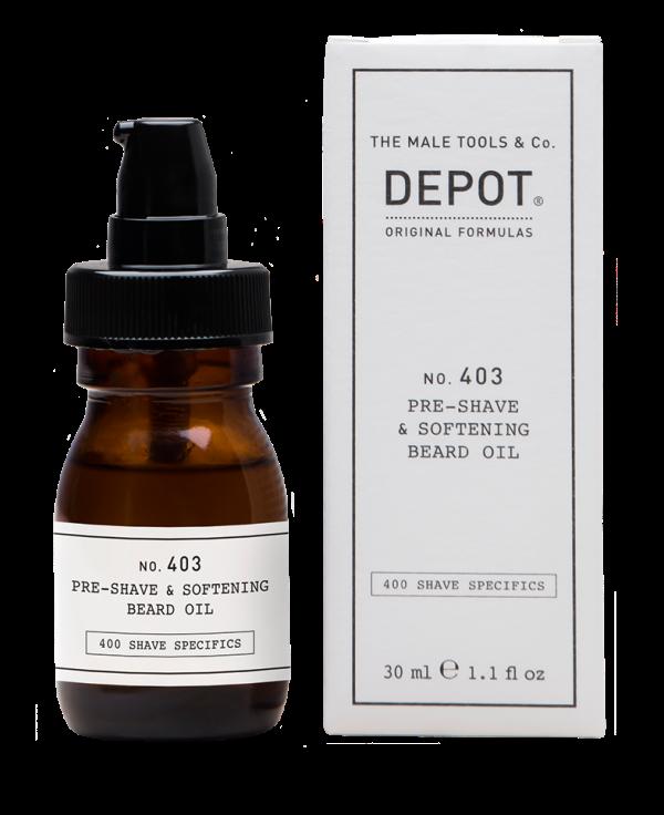 Oleo pre-shave e oleo de barba, Depot, €22,50