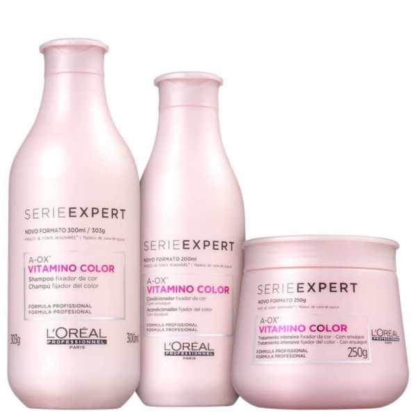 gama Vitamino Color para manutenção de cor, L'Oréal Professionnel, preço sob consulta