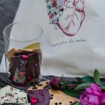 Frasco de lascas de chocolate 30€ e saco de pano edição limitada, €5