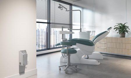 Foto 7 - Modelo Airfree WM, de parede, em consultório de dentista