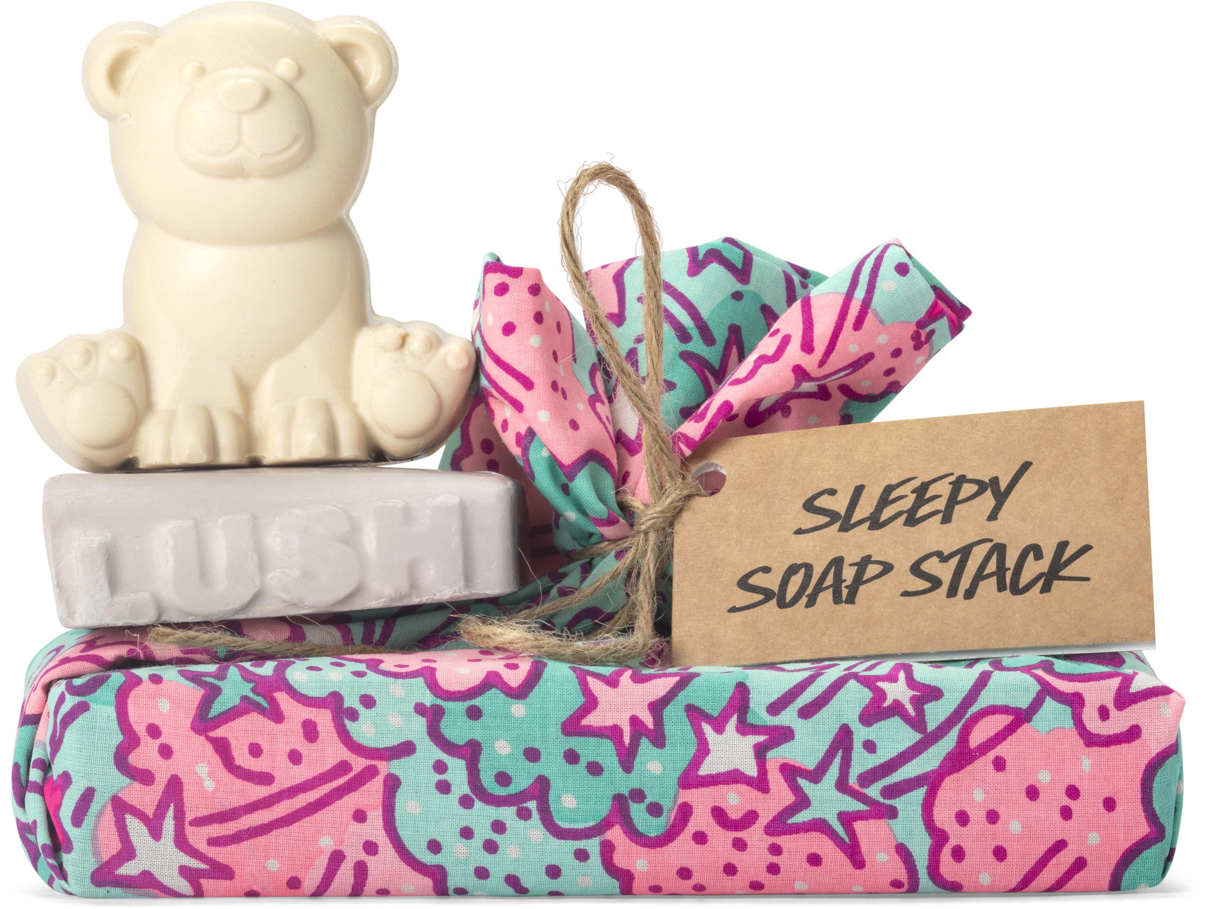 Sleepy Soap Stack (dois sabonetes e uma toalha), Lush, €17,50
