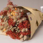 Ramo de flores desidratadas tons terra, €15