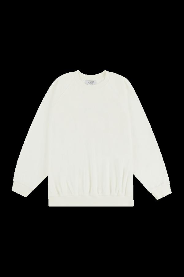 Sweatshirt off-white em algodão turco com bordado 'au soleil' ton-sur-ton, €85