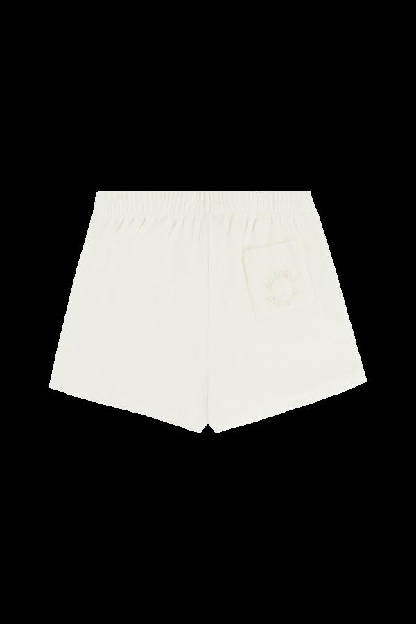 Calções off-white em algodão turco com bordado 'au soleil' ton-sur-ton, €60