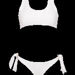 Biquíni Ibiza em licra branco, €105, Bohemian Swimwear