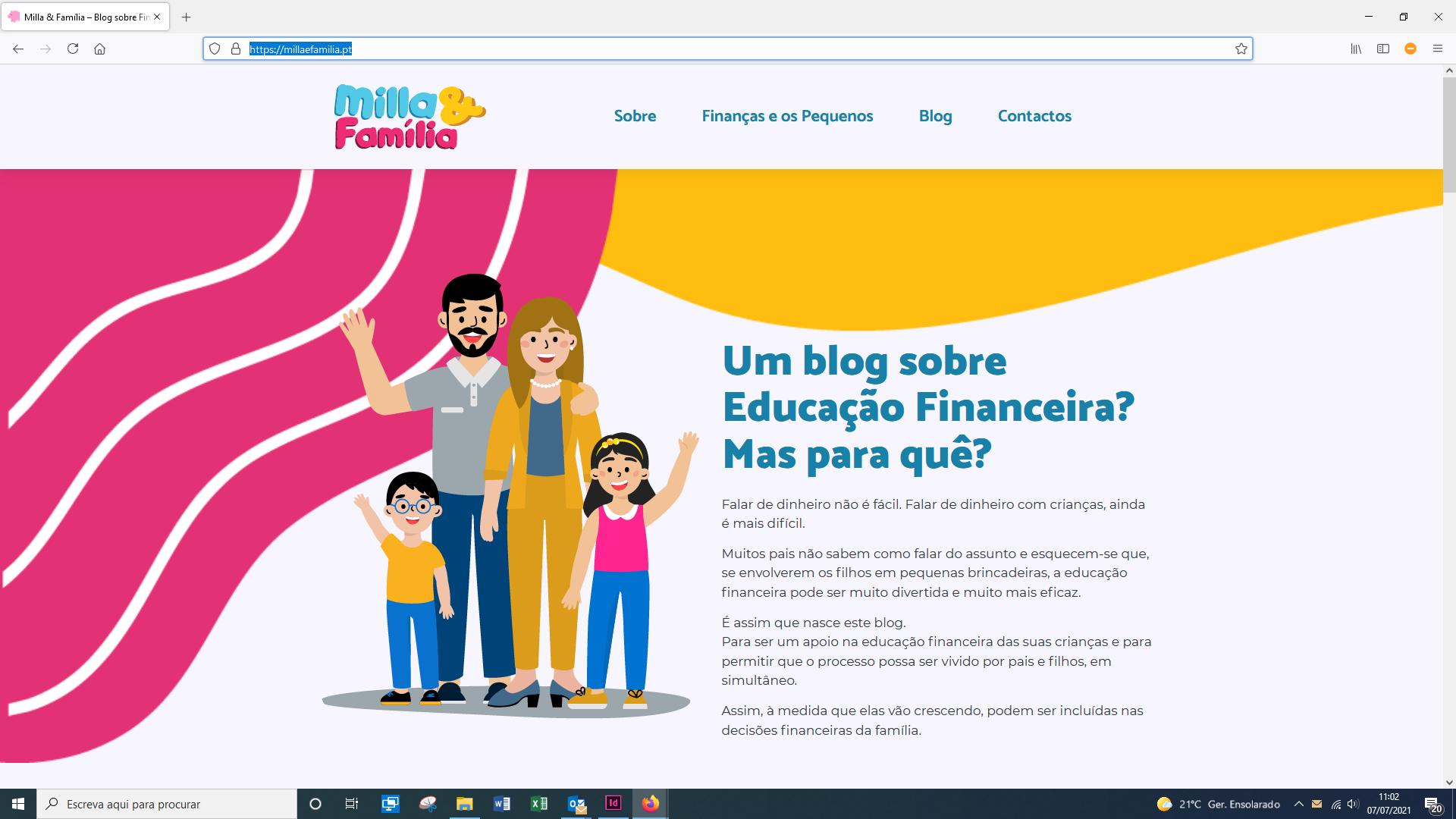 Blog Milla & Família
